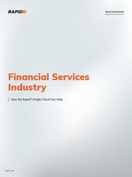 Financial Services Industry: How the Rapid7 Insight Cloud Can Help