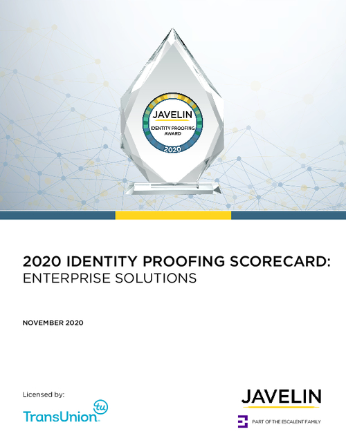 "Javelin Strategy & Research Ranks TransUnion ""Best in Class"" in Identity Proofing"