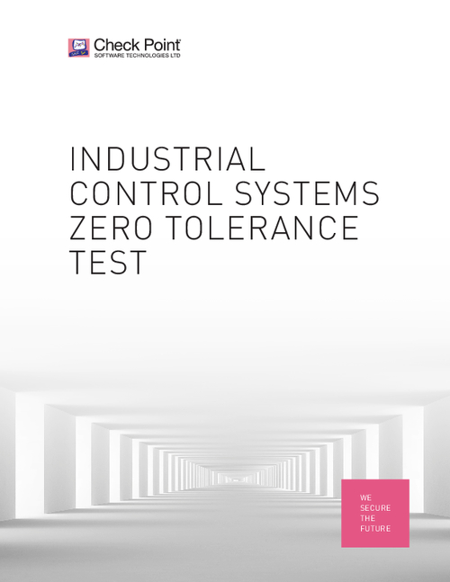 Industrial Control Systems Zero Tolerance Test