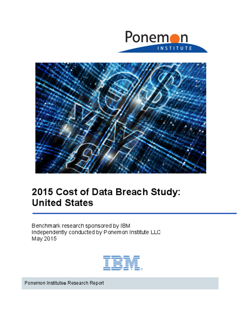 Ponemon: 2015 Cost of Data Breach Study (US)