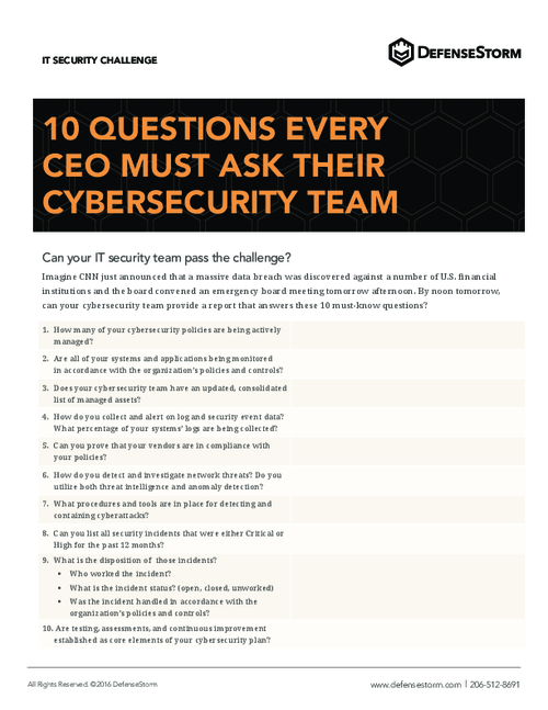 10 Questions Every CEO Must Ask Their Cybersecurity Team