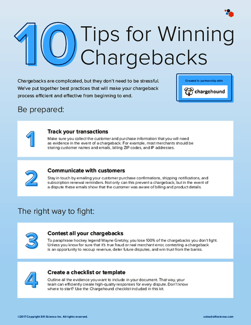 10 Tips For Winning Chargebacks