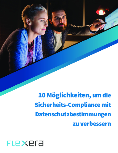 Improving Security Compliance and Data Privacy Regulations: What You Need To Know (German Language)