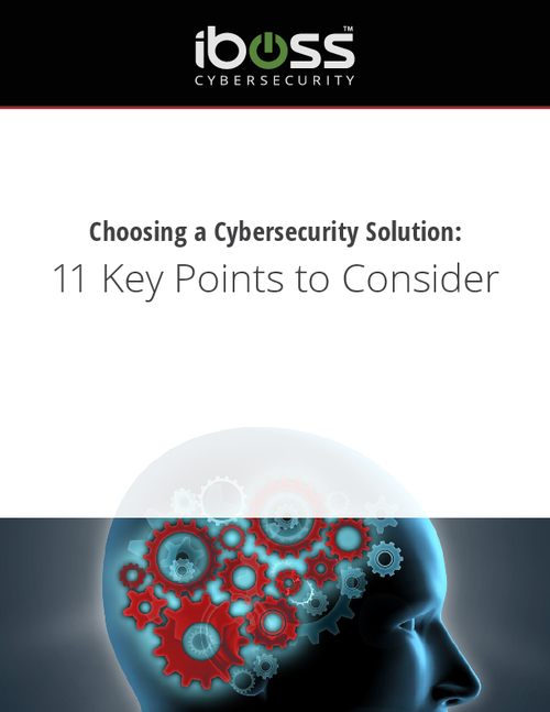 11 Points to Consider in Choosing a Cybersecurity Solution