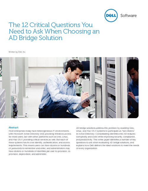 12 Critical Questions You Need to Ask When Choosing an AD Bridge Solution