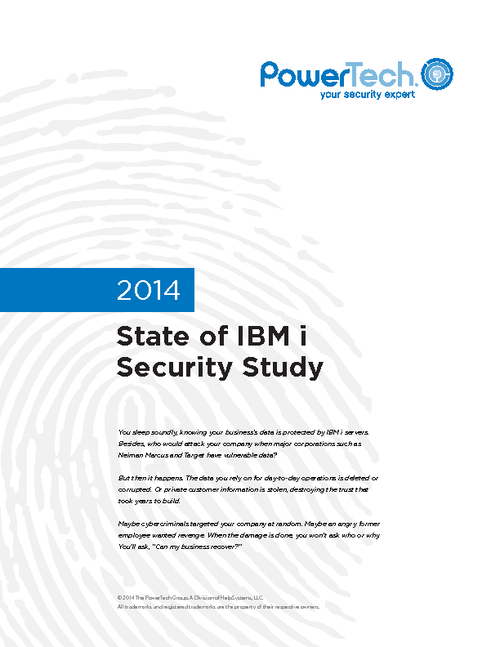 2014 State of IBM i Security Study