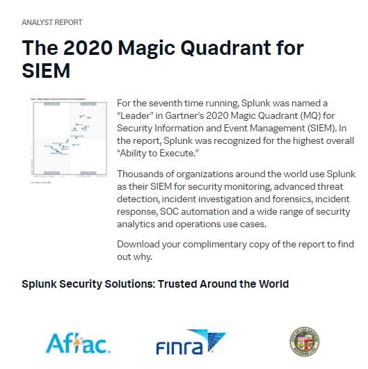 2020 Magic Quadrant for SIEM