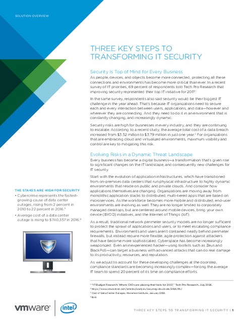3 Key Steps to Transforming IT Security