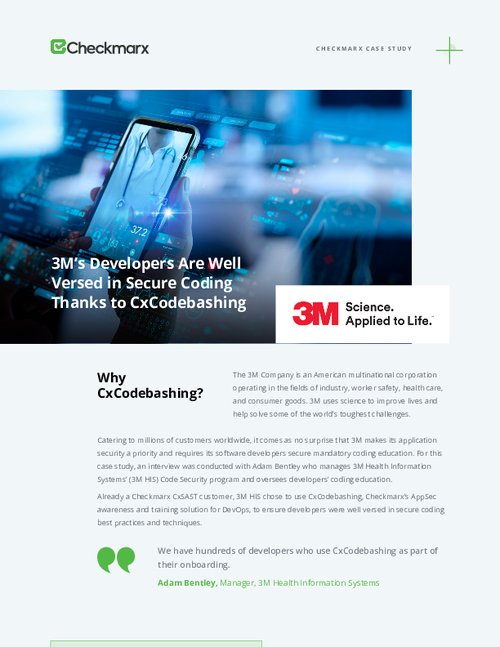 3M Case Study: The Secret to Being Well Versed in Secure Coding
