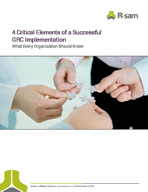 4 Critical Elements of a Successful GRC Implementation