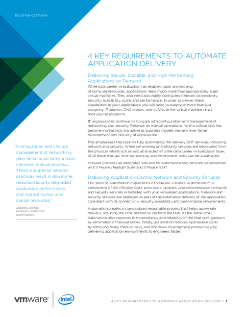 4 Key Requirements to Automate Application Delivery