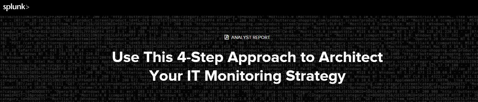 4 step approach to architecting your IT monitoring strategy