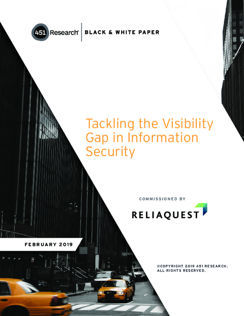 451 Research Report: Tackling the Visibility Gap in Information Security