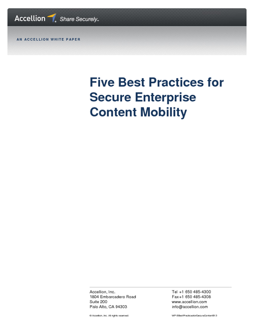 5 Best Practices for Secure Enterprise Content Mobility