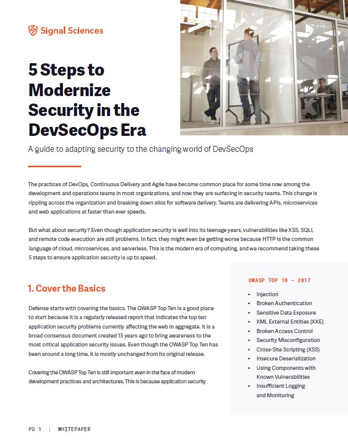 5 Steps to Modernize Security in the DevSecOps Era