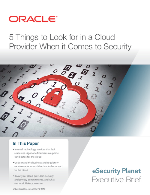 5 Things to Look for in a Cloud Provider When it Comes to Security
