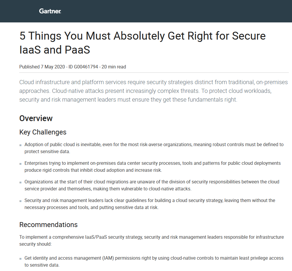 5 Things You Must Absolutely Get Right for Secure IaaS and PaaS