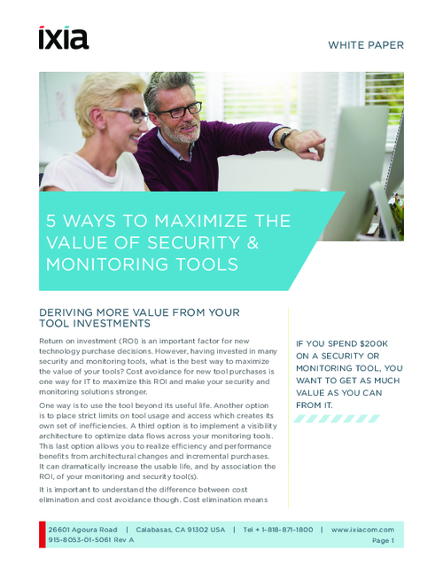 5 Ways to Maximize the Value of Security and Monitoring Tools