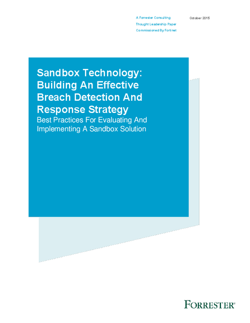 Sandbox Technology: Forrester Report on How To Build An Effective Breach Detection And Response Strategy