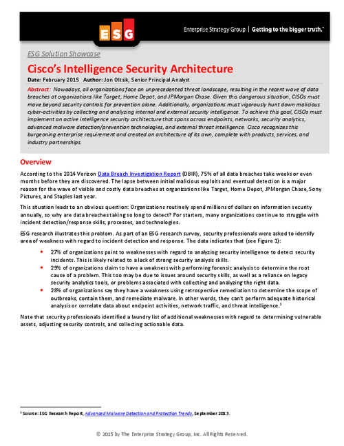 6 Requirements Experts Say You Need for an Intelligent Security Architecture