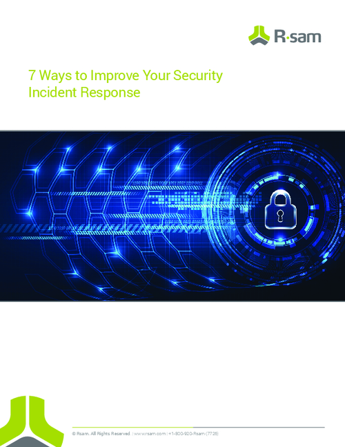 7 Ways to Improve Your Security Incident Response