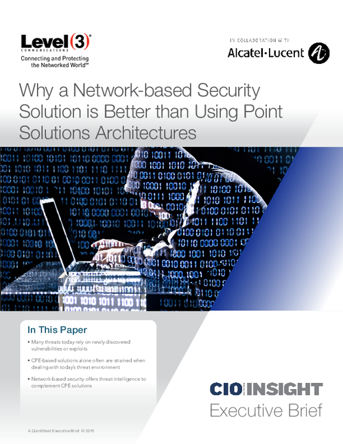 Why a Network-based Security Solution is Better than Using Point Solutions Architectures