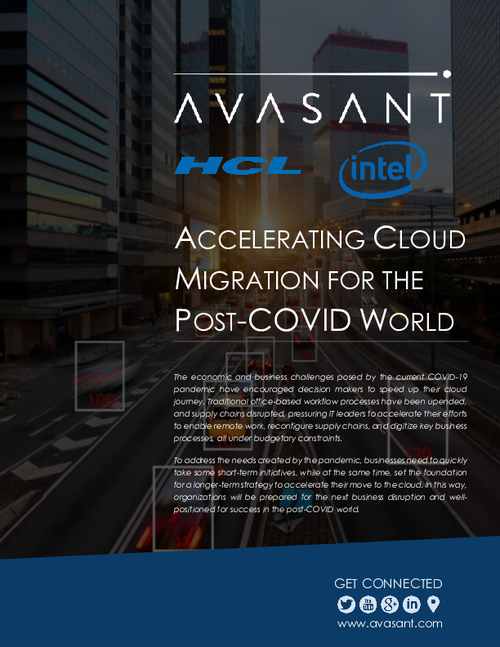 Accelerating Cloud Migration in a Post Covid World