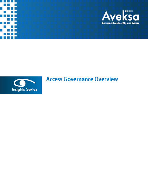 Accomplishing Access Governance in a Secure, Cost-Effective Manner