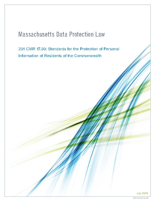 Achieving Compliance with Massachusetts Data Protection Act