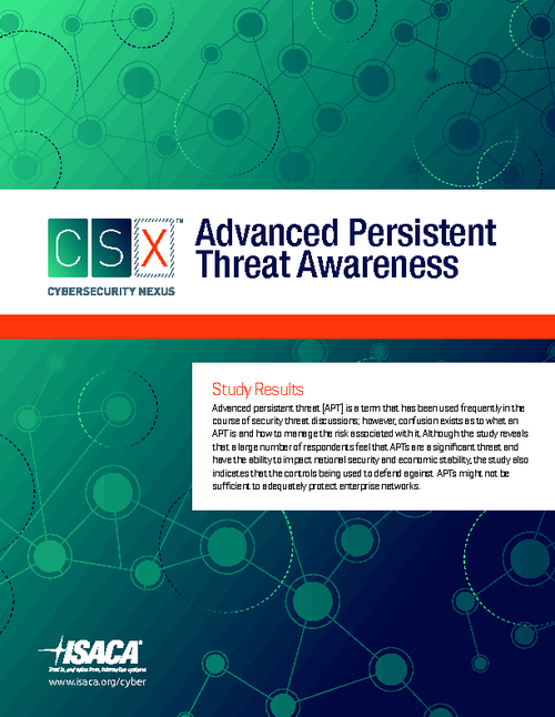Advanced Persistent Threat Awareness Study Results
