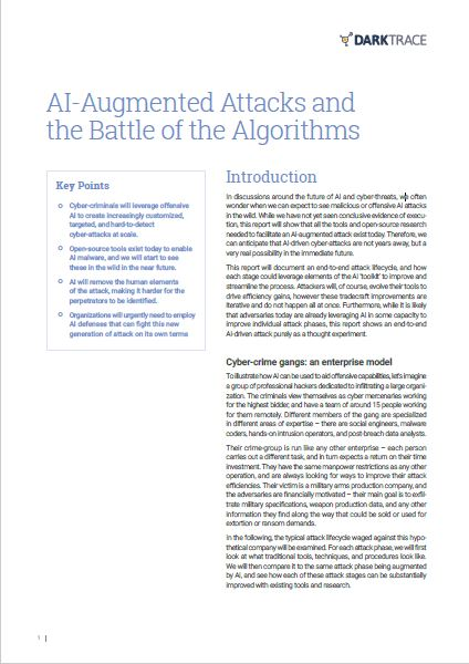 AI-Augmented Attacks and the Battle of the Algorithms