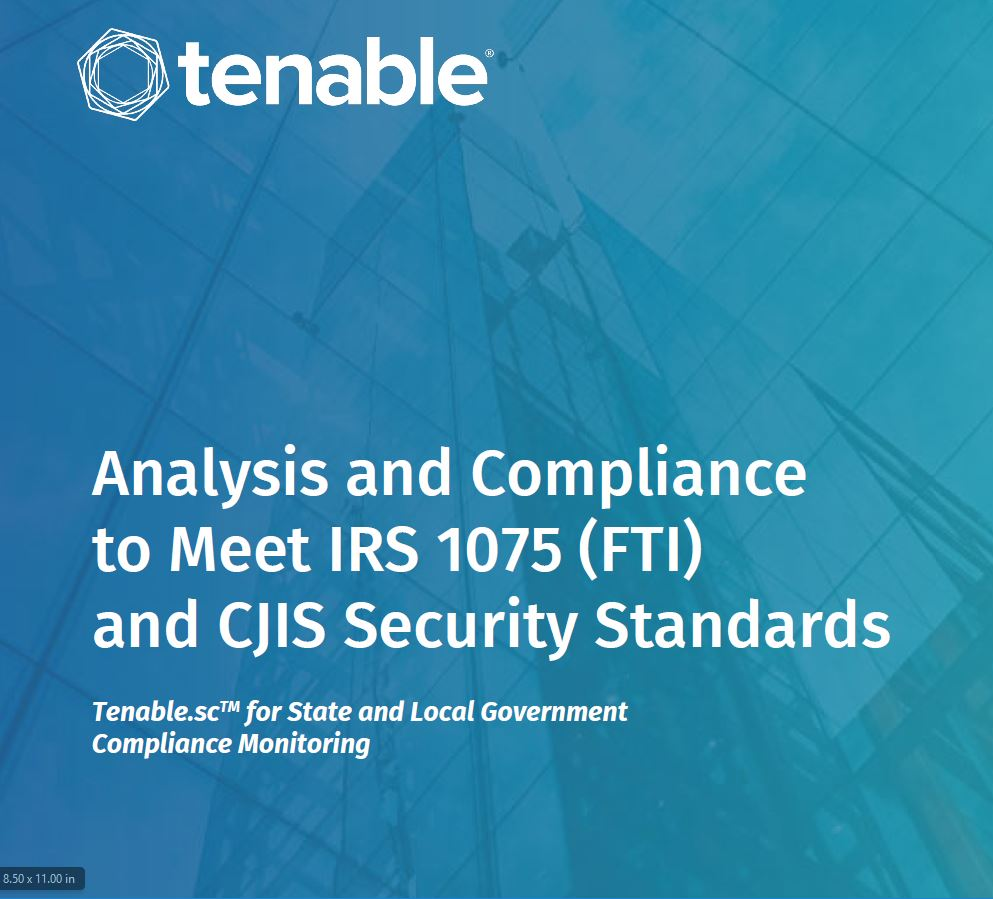 Analysis and Compliance to Meet CJIS and FTI Security Standards