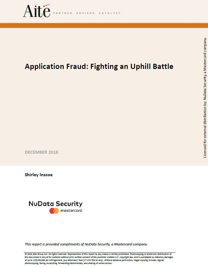 Application Fraud: Fighting an Uphill Battle