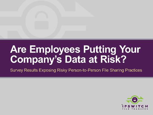Are Employees Putting Your Company's Data at Risk? [eBook]