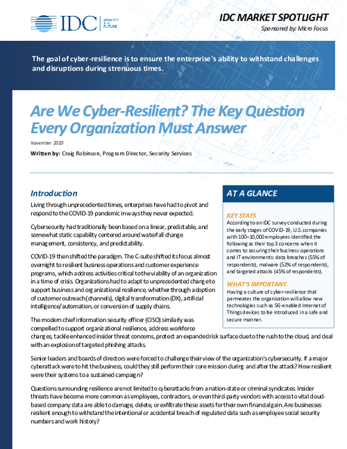 Are We Cyber-Resilient? The Key Question Every Organization Must Answer