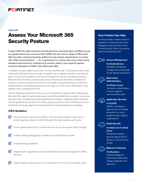 Assess Your Microsoft 365 Security Posture