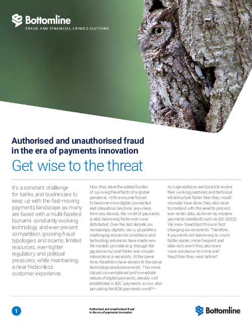 Authorised and Unauthorised Fraud in the Era of Payments Innovation