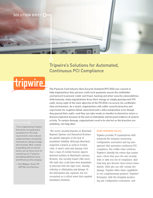 Automated, Continuous PCI Compliance