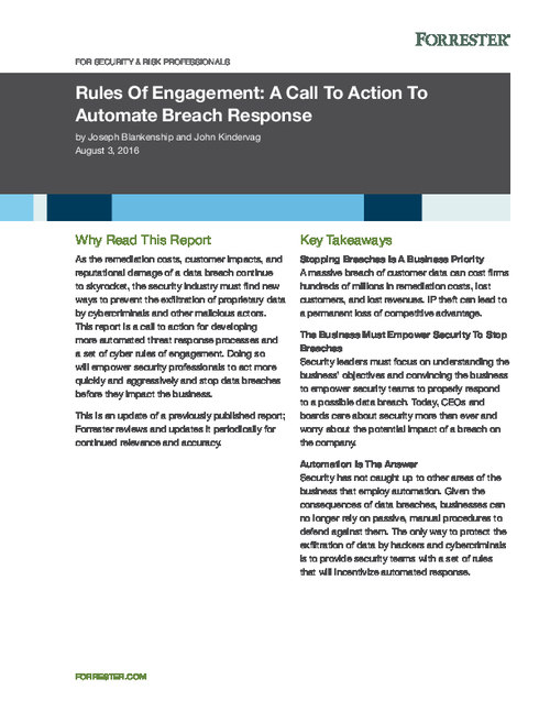 Automated Threat Response Processes and Cyber Rules of Engagement