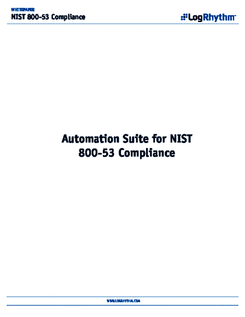 Automation Suite for The National Institute of Standards and Technology
