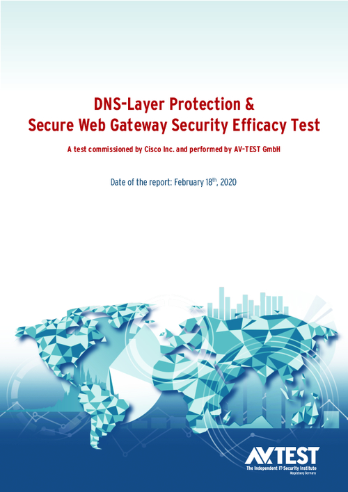 AV-TEST: DNS-Layer Protection and Secure Web Gateway Security Efficacy Test Results
