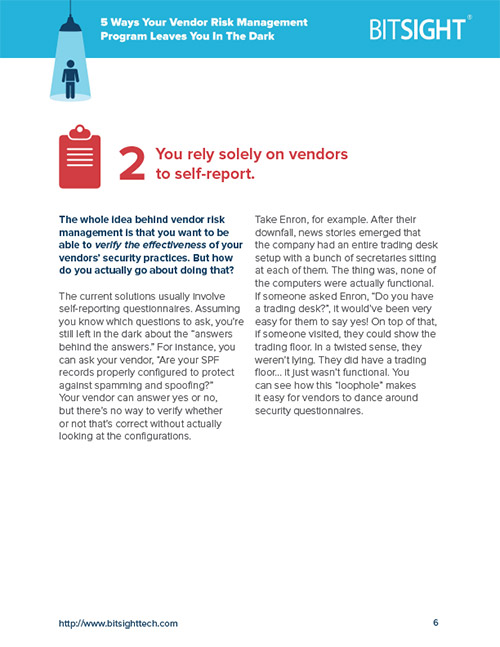 Avoiding Blind Spots in Vendor Self-Reports Assessments