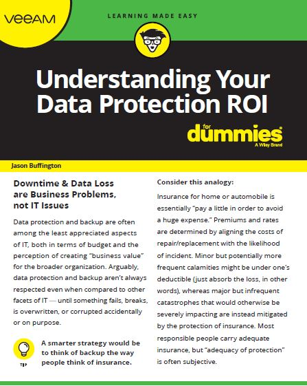 Backup ROI for Dummies