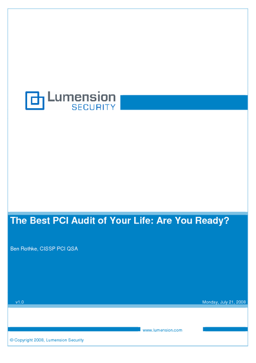 The Best PCI Audit of Your Life
