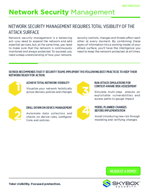 Best Practices: Continuous Network Security Management