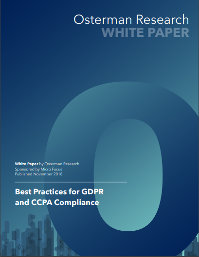 Osterman Research: Best Practices for GDPR and CCPA Compliance
