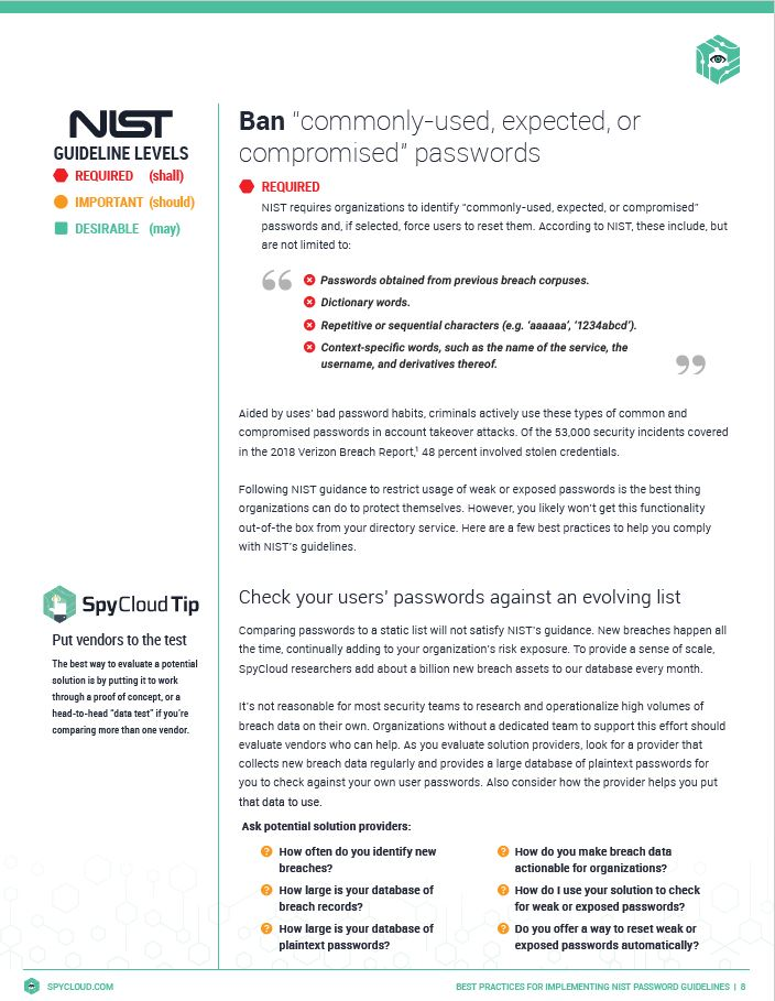 Best Practices for Implementing NIST Password Guidelines, with Special Instructions for Active Directory