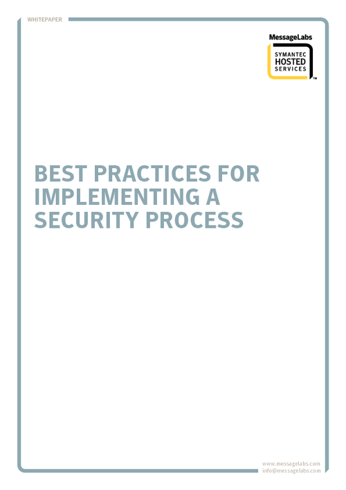 Best Practices for Implementing a Security Process