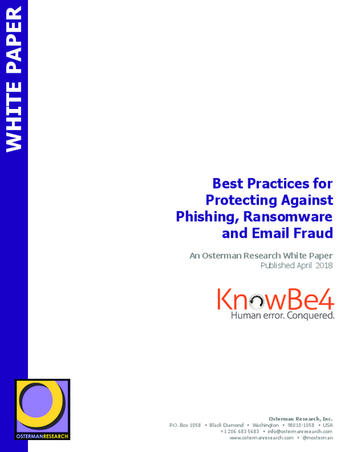 Best Practices For Protection Against Phishing, Ransomware, and Email Fraud