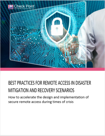 Best Practices for Remote Access in Disaster Mitigation and Recovery Scenarios